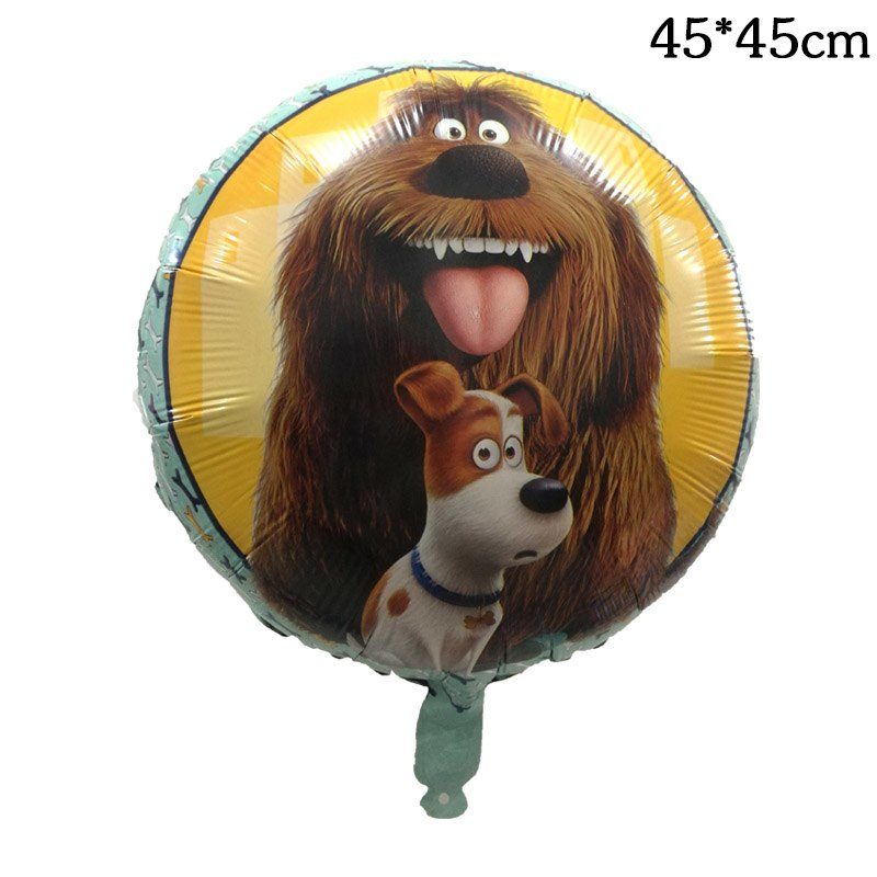 50pcs 18 inch The Secret Life of Pets Balloon Kids Birthday Party Decorations Helium Foil Dog Baloons Toys Event Party Supplies