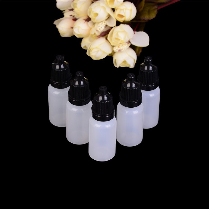 5pcs 10ml PET/LDPE Dropper Plastic Bottle Tip Eye Liquid Squeezable Empty 10ml