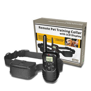 998D 300 Meter Pet Dog Training Collar Remote Electronic Shock LCD Collars Display Remote Control Training Collar For 1 Dogs