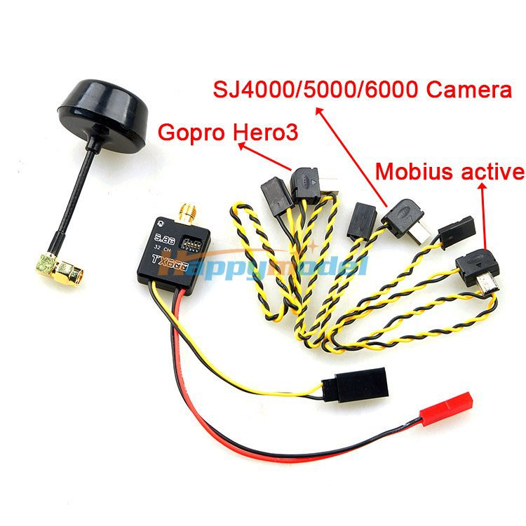 Aerial FPV dedicated 5.8G 32 600mw Illustrated frequency transmitter 34 coyotes dog mobius808 General Rc Spare Parts