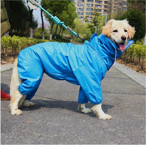 2018 Pet  Small Large Dog Raincoat Clothes Pet Dog Raincoat Hoody Waterproof Rain Lovely Jackets Coat Apparel Clothes