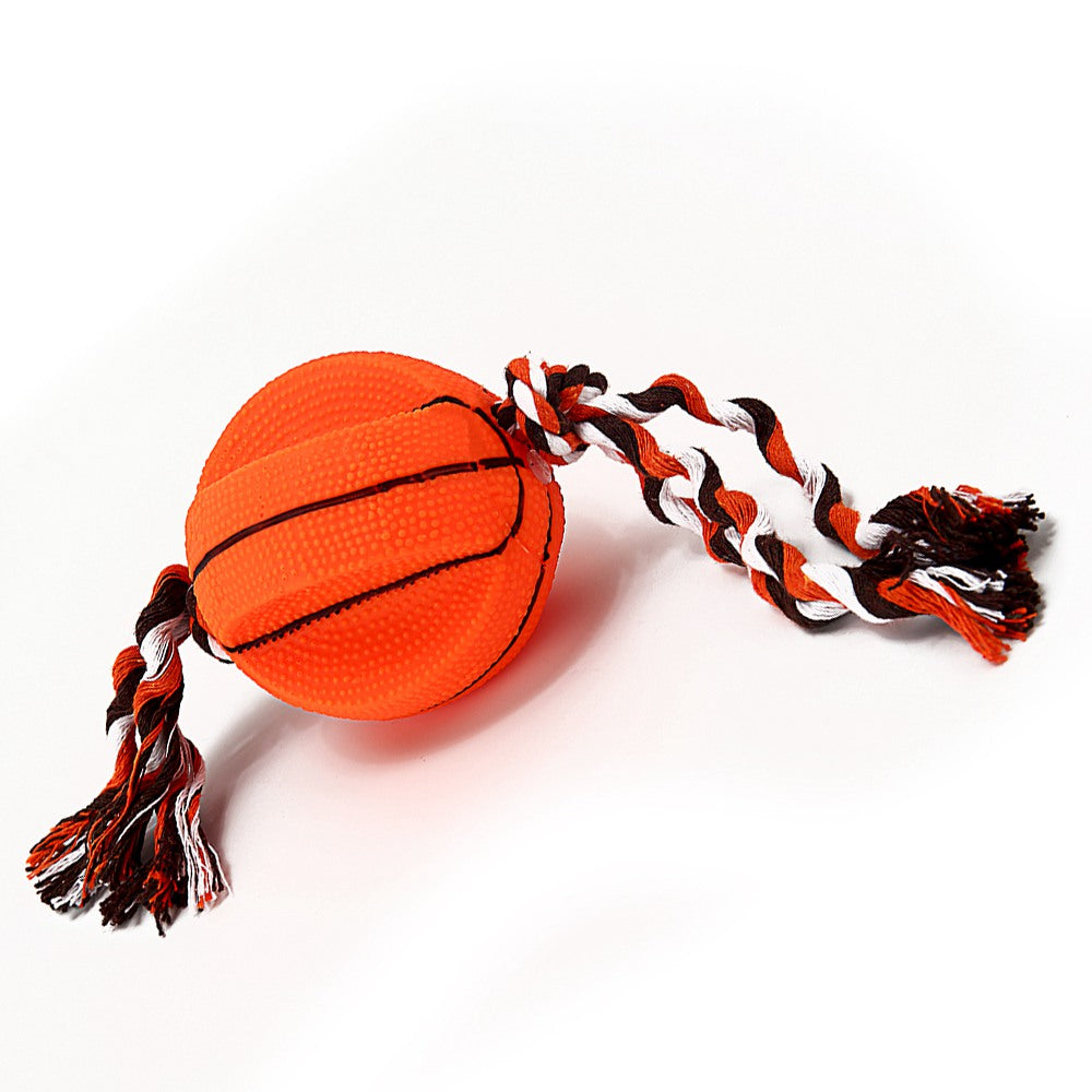 Balls Dogs Toys Chewing Rope Chew Toy For Dog Basketball Pet Toys Silicone Interactive Dogs Toy Pet Products Dog Supplies FF0006