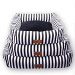 Classical Striped Pet Mat Fashion Dog Bed House Breathable Cotton Soft Cat Kennel Ne Dog Square Bed for Small Medium Dog MPC47