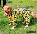 Cool Camouflage Pet Dog  Raincoat Hoody Waterproof Rain Lovely Jackets Coat Apparel Clothes For Medium Big Large Dogs