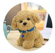 Cute Puppy Dolls Curly Teddy Dogs Stuffed  Toys for Kids Children Birthday Gifts/22CM