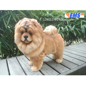 Cute Puppy Statue Animal Simulation Chow Chow dog Bu Creative Home Decoration Bu Resin Action Figure Collectible Model Toy