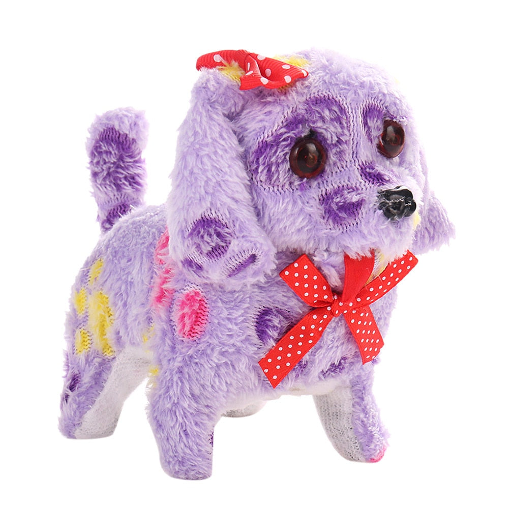 Cute Walking Barking Lighting Toy Dog Funny Electric Moving Dog Children Kids Toys BM88