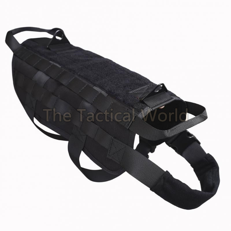 Dog Harness Ve for Walking Hiking Hunting Tactical Military Water-Resistant MOLLE Training Harness Service Dog Clothes Gear