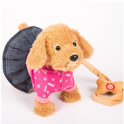 Electric leash dog colourful  Teddy  Toys Music machinery remote control Leash  dog electronic toys  For Children Christmas gift
