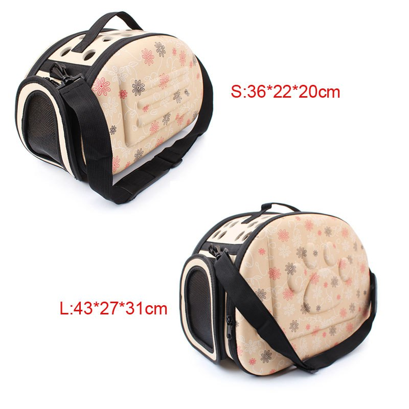 Fashion Printing Small Dog Carrier Bag Outdoor Folding Portable Pet Dog Travel Bag For Chihuahua