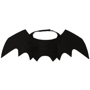 Funny Black Pet Cat Clothes Bat Wings Fancy Pet Custume Dress Outfit Small Dog Cat Costume Halloween Bat Harness Accessories
