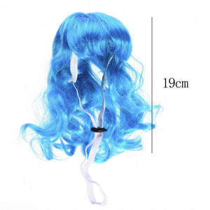 Funny Long Curly Hair Pet Dog Wig for Christmas festival Halloween Cosplay Decorations Dog Costume Accessories