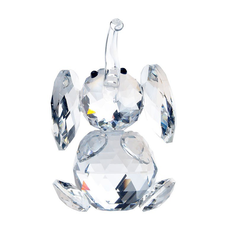 H&D X'mas Gifts Clear Elephant Glass Crystal Figurines Crafts Collection Table Car Ornaments Souvenir Home Wedding Decor/Favors