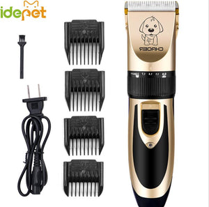 Hair Clippers Pet Dog Hair Trimmers Cat Electrical Clippers Cutter Dog Haircut Machine Grooming Tool EU PLUG