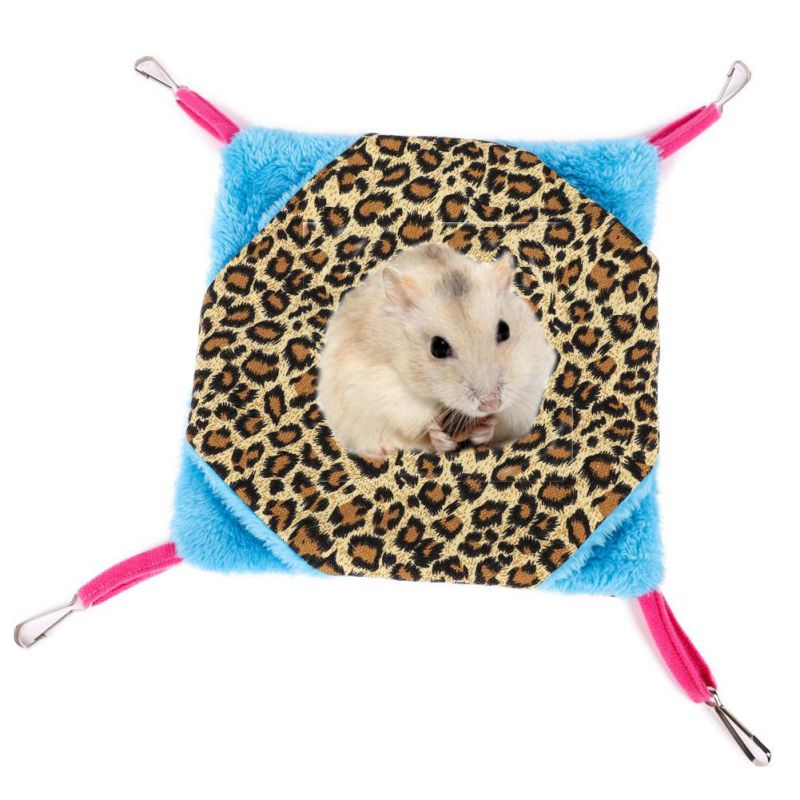 Hamsters Hammock Birds Cat Small Pets Cute Mezzanine Hanging Bed House Rat Dot Love Design Hamster Toys Cage Swing