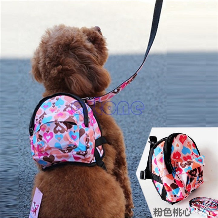 Handy Pet Bag Backpack Travel Carrier For Dog Puppy Cats With Leash