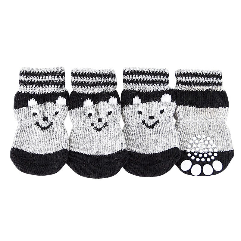 High Quality Pattern Sock Shoes Lovely Soft Warm Knitted Socks Clothes Apparels For Small Pets Dog Doggy Puppy Product Supplies