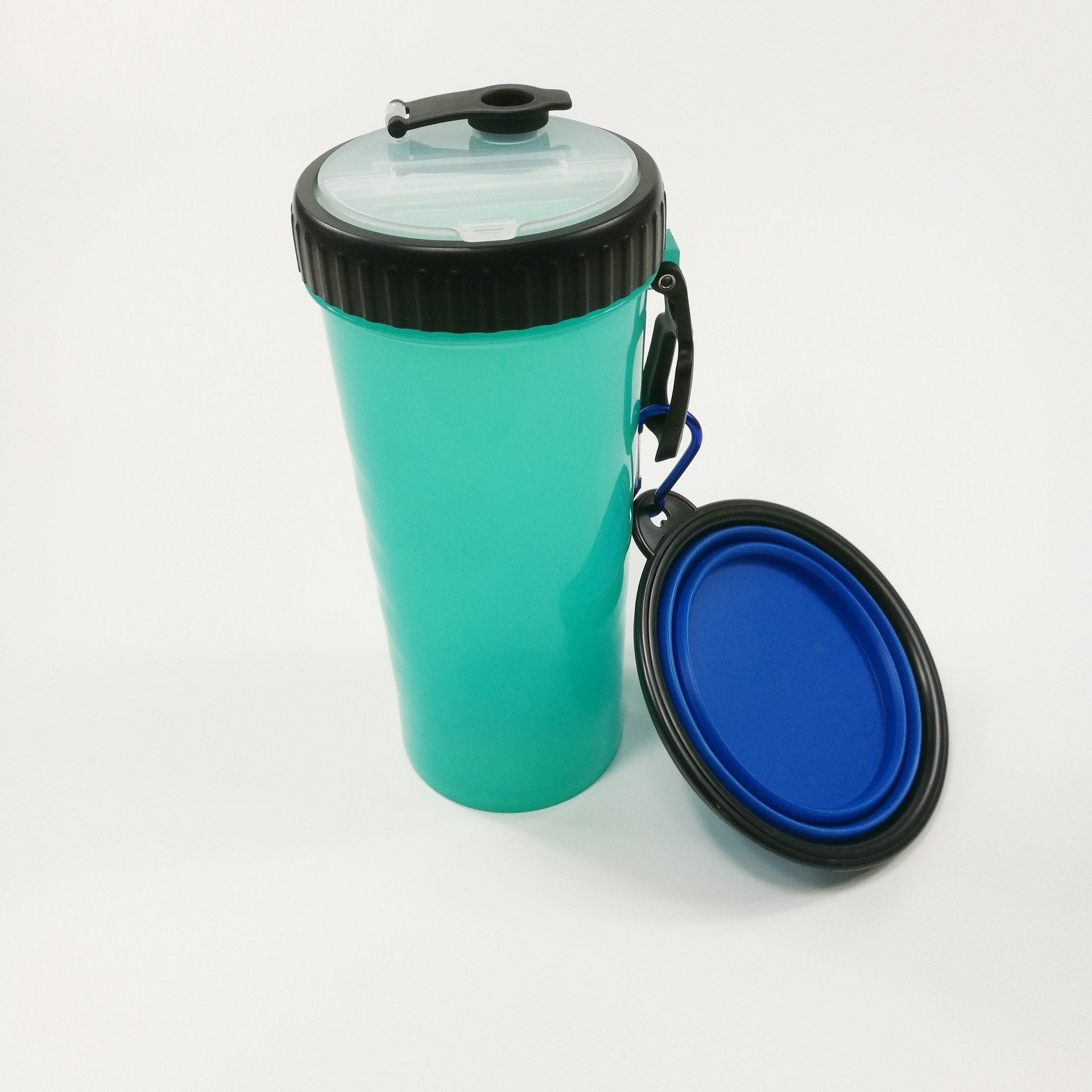 Foldable Dog Boowl Water Bottle Set For Dogs Portable Tour Food Container Rubber Kitten Puppy Dog Feeder Pet Accessories