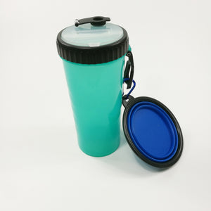 Foldable Dog Boowl Water Bottle Set Rubber Kitten Puppy Dog Feeder Portable Tour Food Container For Dogs Pet Accessories