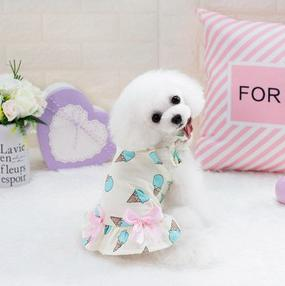 Kawaii Sling Dog Dresses Cute Summer Clothes Lovely Ve Tshi Small Dogs Ice Cream Color Petco18002 Maltese Yorkshire