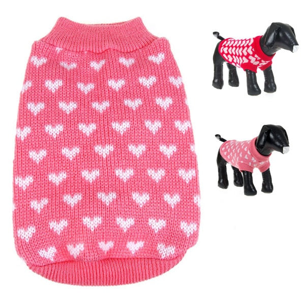 New Dog Clothes Sweate Christmas BE Gift Small Pet Dog Cat Winter Warm Knitwear Puppy Coat Outwear Apparel
