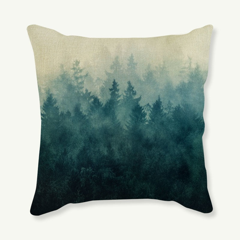 New Hot Selling Nature Fore Landscape Cushion Cover Decorative Sofa Throw Pillow Car Chair Home Decor Pillow Case almofadas