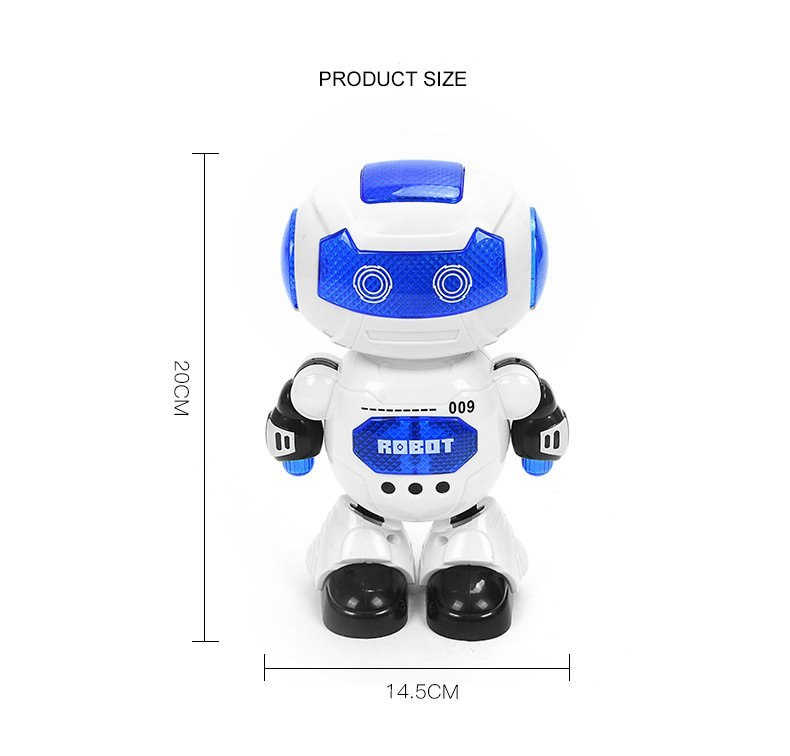 New Robot toy English Birthday Gift singing Sma pet Electric Pets Cute Interactive Space Dancer Humanoid Robot Toy With Light