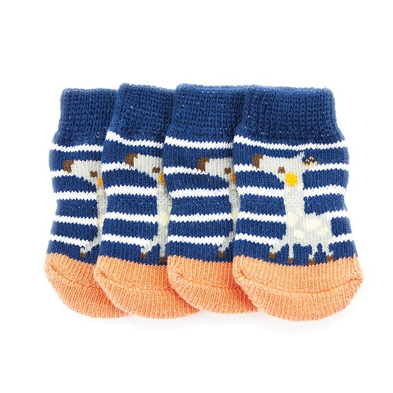 New Winter Christmas Dog Lovely Soft Warm Knitted Socks Cartoon Small Pet Dog Doggy Shoes Clothes Apparels For S-XL
