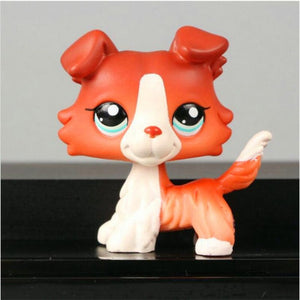 Newe Pet Shop Cute Animal Brown Red Puppy Dog Doll Anime Action Figure Model Juguetes Kids Toys Gifts