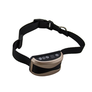 Pet Dog Waterproof Rechargeable Anti Bark Collar Adjustable Sensitivity Levels Vibration Stop Barking Dog Training Collar