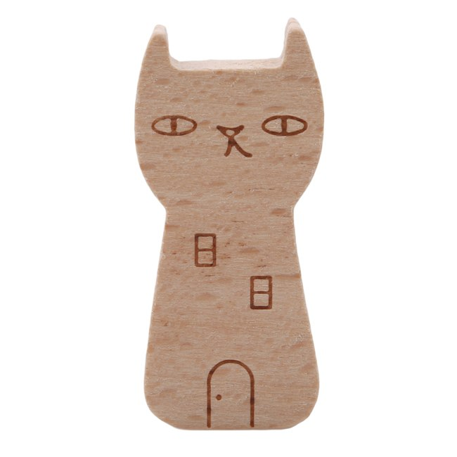 Note Holder Wood House Cat Information Folder Photo Clip Cartoon Note Card Holder Display Board Message Memo Clip