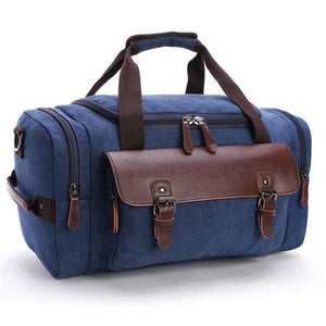 P.P.X Canvas Leather Men Travel Bags Carry on Luggage Bags Men Duffel Bags Travel Tote Large Weekend Bag Overnight P419