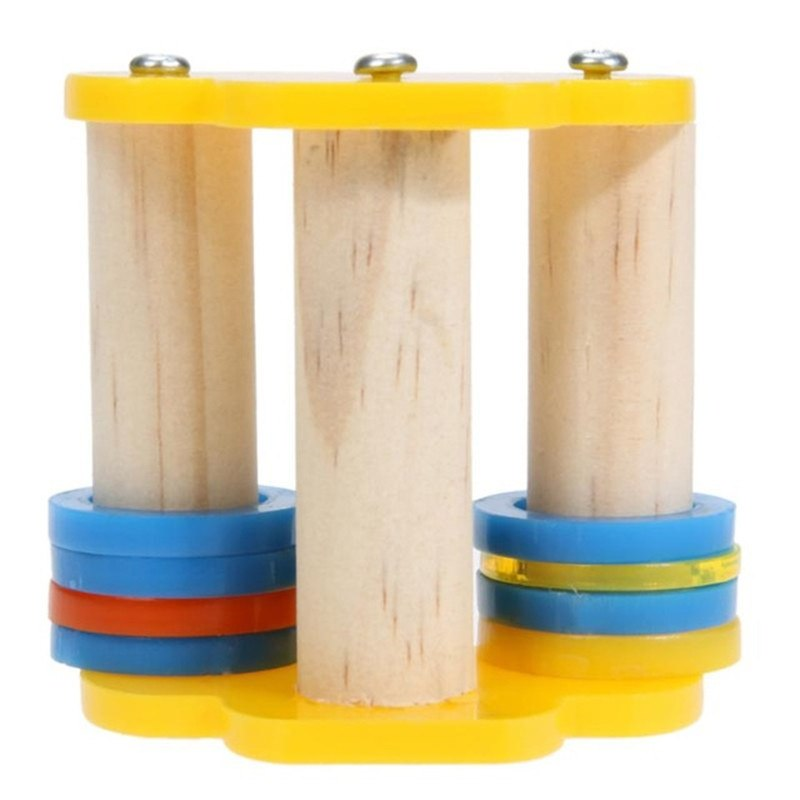 Parrot Pet Bird Foot Movement Toys Skate Roller Training Stand Parrot Foot Toys  Climb Rats Funny Toy Colorful