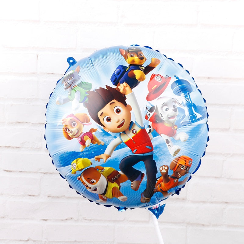 Foil Balloons 1pc 18inch Hot Cartoon Dog Handheld Globos Birthday Party Decorations Kids Toys Chase Marshall Ballon