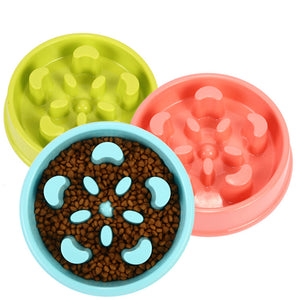 Pet ABS Plastic Slow Feed Feeder Dog Food Bowl Pet Cat Food Bowl Health Prevent Obesity Pharyngeal Food Dog Cat Bowl