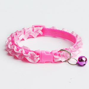Pet Cat Collars for Small Puppy Pet Dog Collars Bell Adjustable Buckle Chihuahua Leash Dog Collars