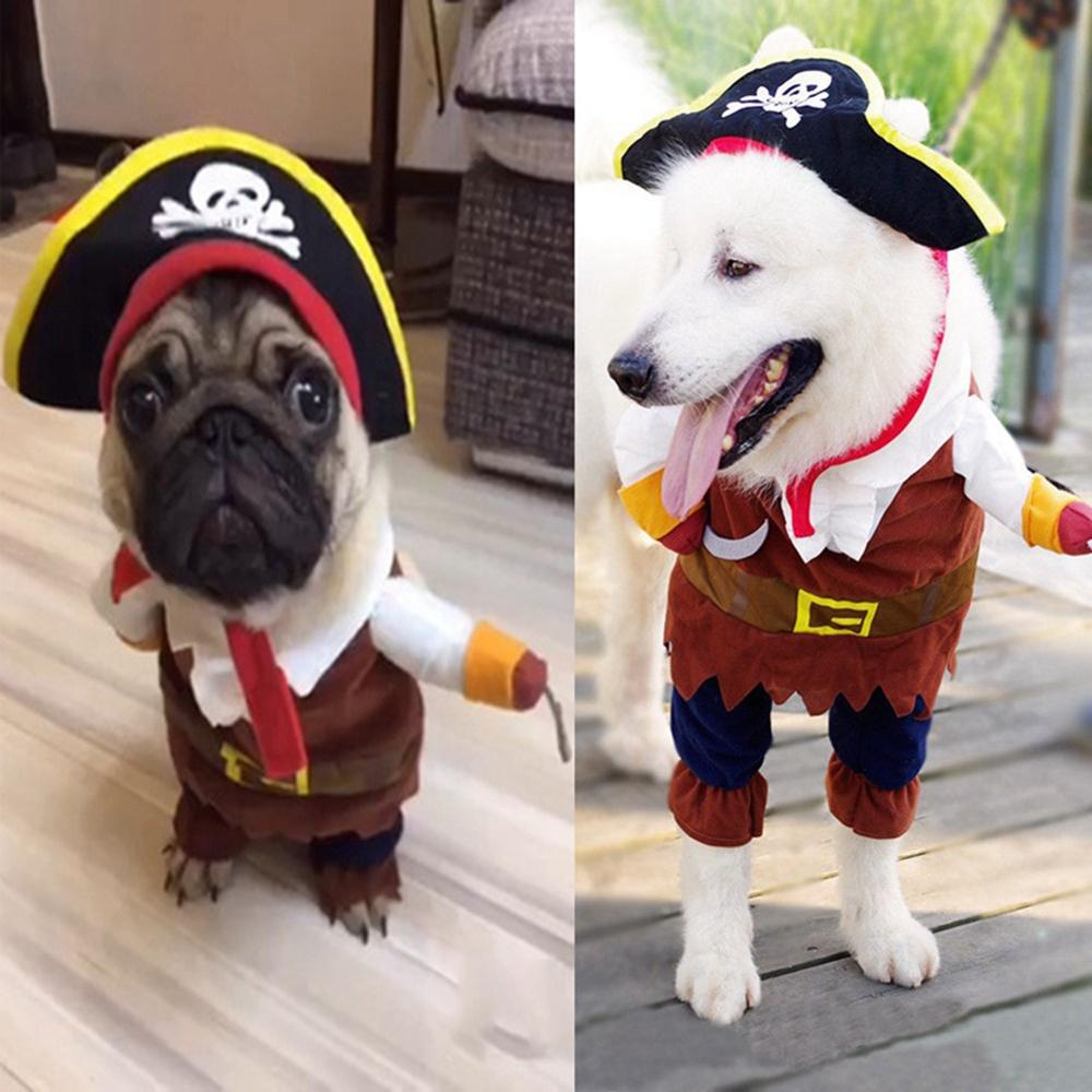 Pet Clothes Pet Dog Halloween Pirate Cool Dresses Cute Dog Pet Cosplay Costume Clothing Ve Pets  Halloween Party Accerssorios