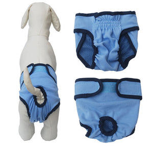 Pet Dog Diaper Sanitary Physiological Pants Washable Female Dog Shorts Pants Menstruation Girls Teddy Underwear Briefs Safety
