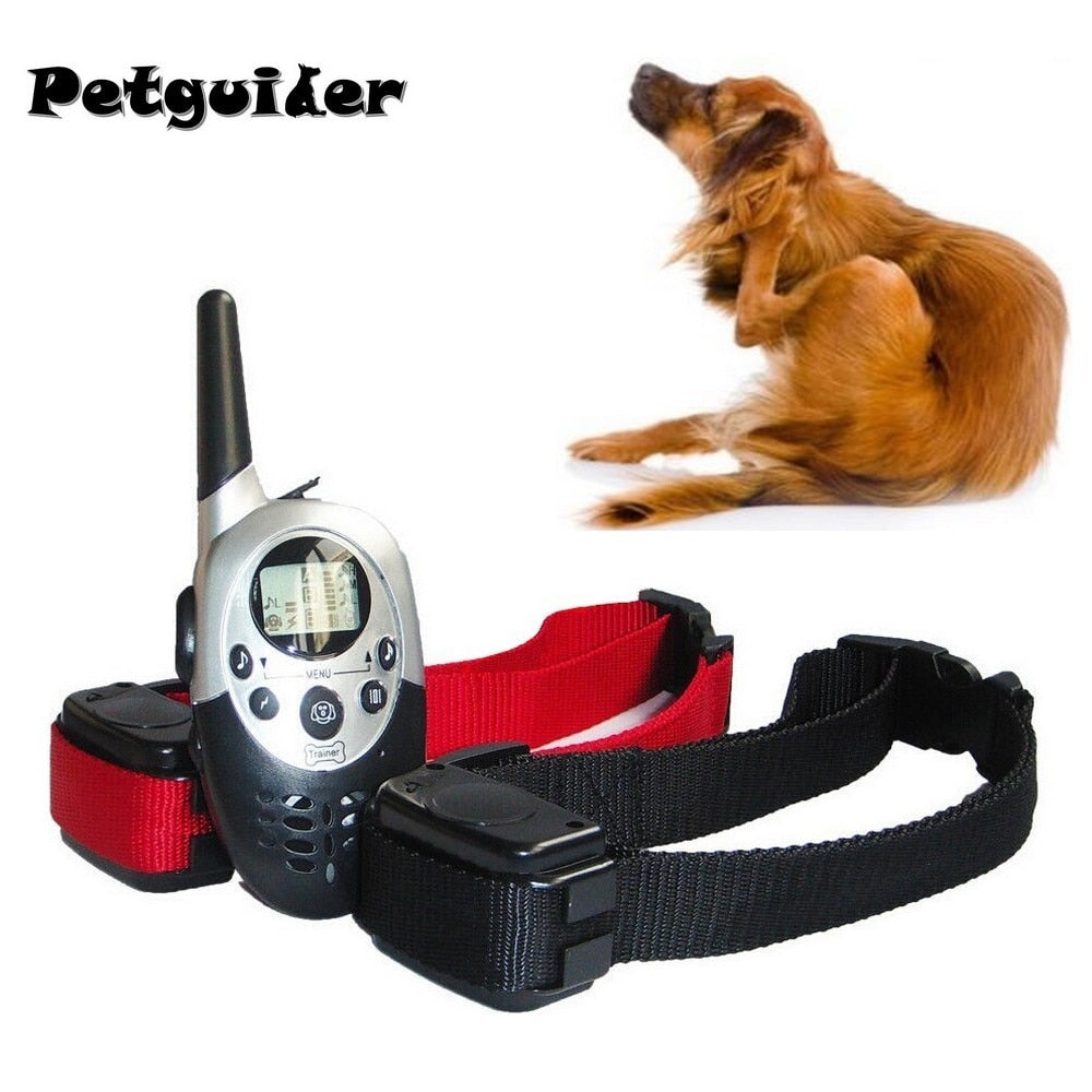 Pet Dog Training Collar For Large Medium Dog Rechargeable LCD Remote Electric Shock Vibrate Sound Dog Control For 2 Dogs