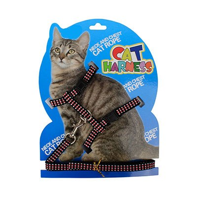 Pet Products Cat Accessories Nylon Adjustable Figure H Cat Harness with 1*105cm Pet Leash Leads for Cats Small Baby Dogs