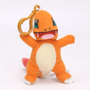 Plush Pikachu Bulbasaur Charmander Piplup Squirtle Eevee Mew Stuffed Animals Small Pendant  Toys