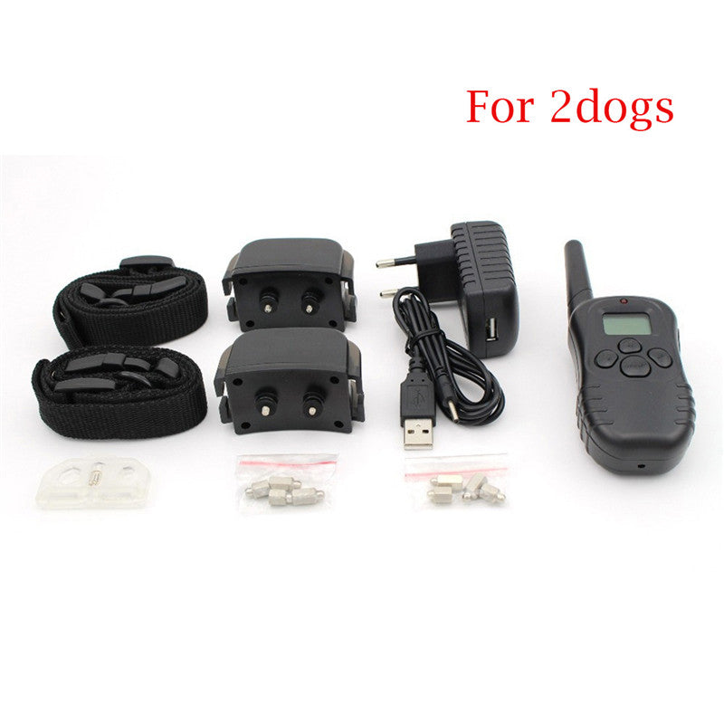 Professhional Dog Training Collar 998DR Rechargeable Remote Electric Shock Anti-Bark Waterproof LCD Display Pet Shock Collar