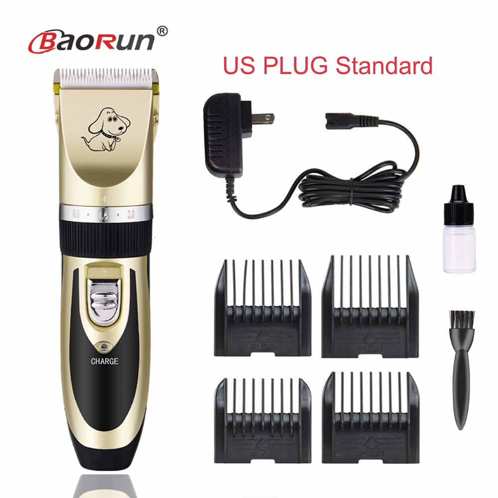 Professional Rechargeable Dog Hair Trimmer Electrical Pet Clipper Shaver Set Haircut Cat Grooming Kit Remover Machine