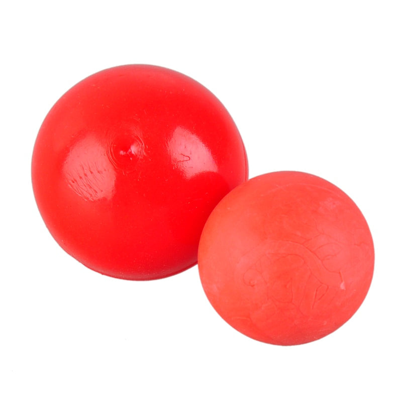 Solid Red Rubber Pet Toy Natural Elastic Ball Dog Toys Bite Resistant Durable Dogs Chew Toys Pets Training Supplies For Pitbull