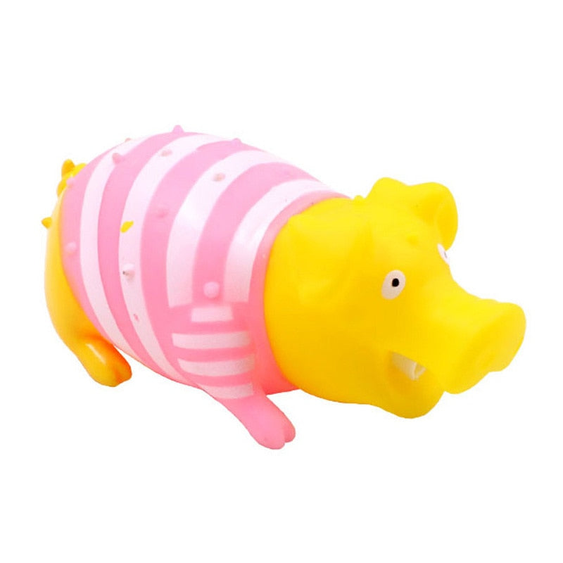 Sound Pig Pet Toys Screaming Rubber Squeak Toys for Small Medium Dogs Cats Attractive Chewing Dog Toy Pet Supplies