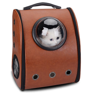 Space Cabin Pet Carrier Breathable Cat Dog Carriers Space Capsule Backpack  Outdoor Portable Package Pet Travel Dog Cat Carrier