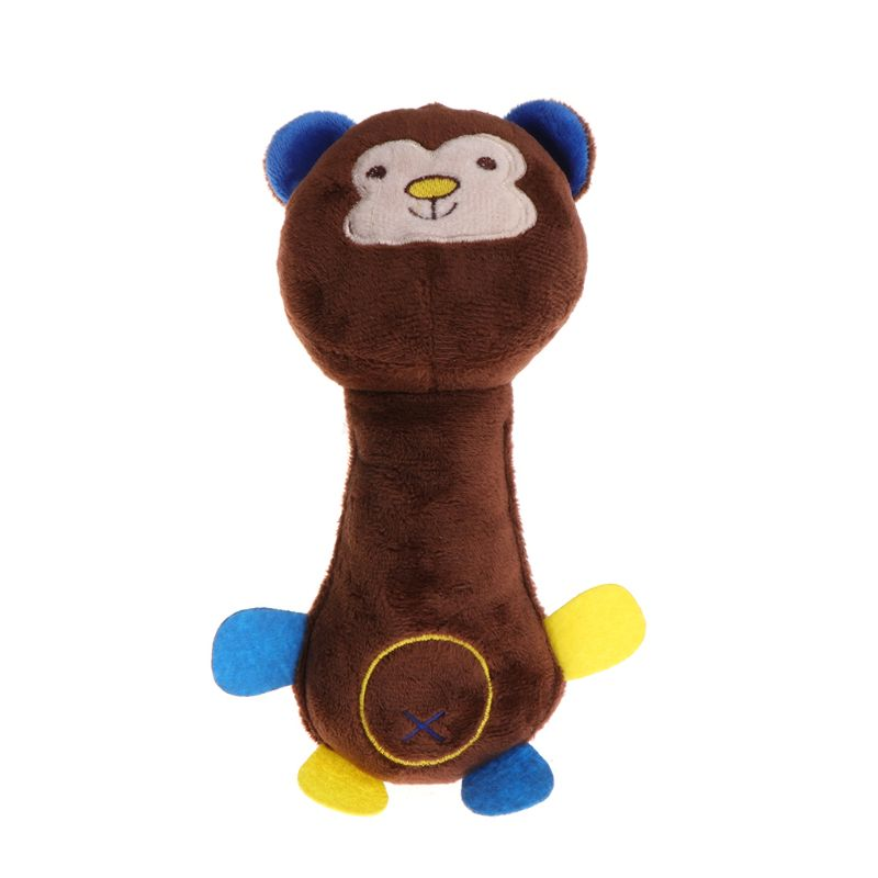 Stuffed Pig Monkey Deer Funny pet toy Dog Plush Squeaky Plush Soft Chew Bite toy