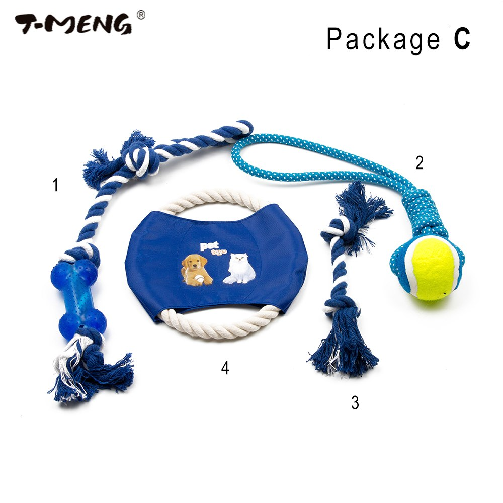 Four Pieces A Set Pet Toys for dog funny Chew Durable Flying Discs Knot Dog Toy For Small Large Dogs Trainging Chew Toys