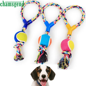Top Grand Funny Dog's Chew Toys Cotton Rope Dumbbell Tennis Pet Toy Puppy Dog Teeth Cleaning Training Tool For Dogs 1Pc Dropship