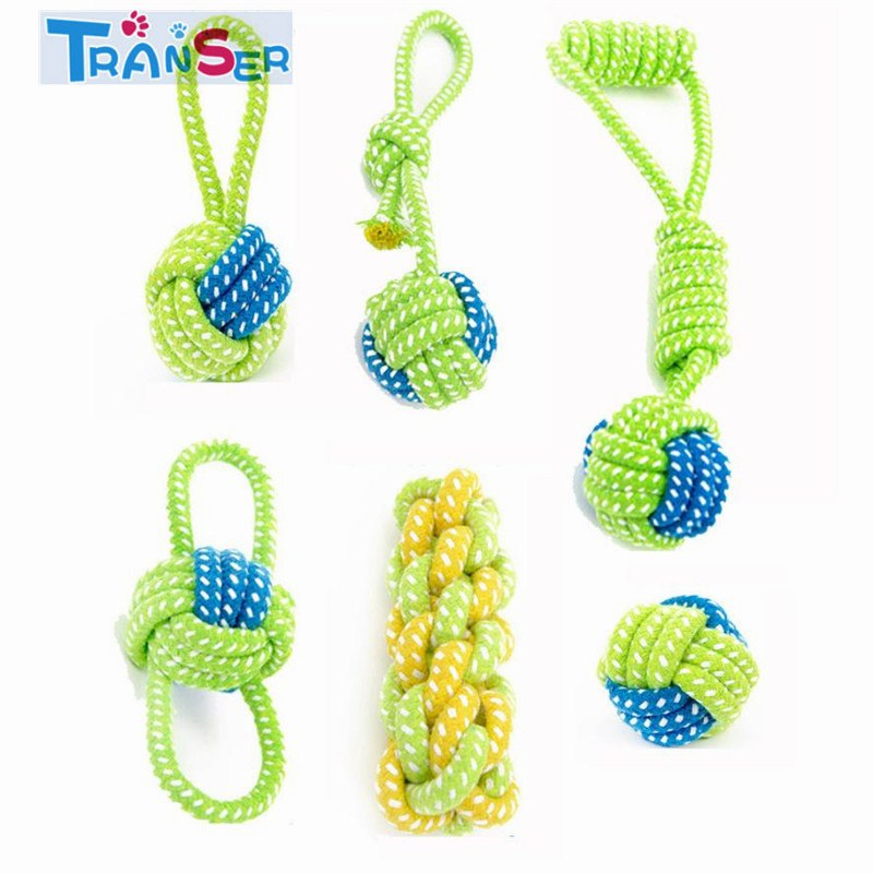 Dog Toy Dog Chews Cotton Rope Knot Ball Grinding Teeth Odontoprisis Pet Toys Large Small Dogs 18Feb1